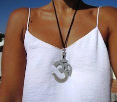 OM colgante collar collar largo collares para las mujeres