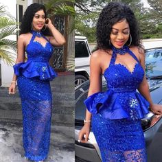 latest aso ebi styles out 2019 Lovely Asoebi Styles for Events African Lace Styles, African Lace Dresses, African Dresses For Women, African Attire, African Fashion Ankara, Latest African Fashion Dresses, African Print Fashion, Lace Gown Styles, Ankara Gown Styles