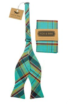 Lakehouse Plaid Bow Tie