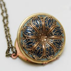 Vintage locket, $69.99, Emmagemshop via Etsy.