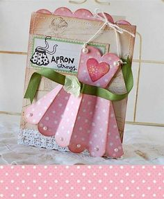 Sweet apron card, cute for bridal shower?