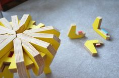 Asterisk is a puzzle stool created for children by Canadian industrial design student, Christina Sicoli. Made from 17 interlocking pieces, the stool Playroom Furniture, Kids Furniture, Furniture Design, Eco Design, Design Lab, Sustainable Furniture, Puzzles For Kids, Kid Spaces, Creative Kids