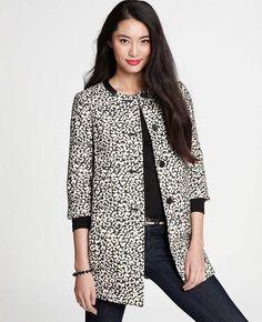 106eae75d2 Leopard Jacquard Topper Clothing For Tall Women