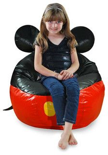 Junior Mickey Mouse Bean Bag Cover - contemporary - kids chairs - by Bed Bath & Beyond