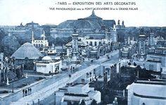 Paris Exposition, 1925. Pont Alexandre III et Grand Palais