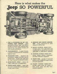 Jeep sales brochure page.