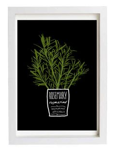 Rosemary kitchen print by anek on Etsy. Too cute.