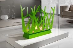 SteelTree Fireplace by Paolo Grasselli | Home Design and Decor