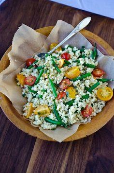 Summer Millet Salad with Tarragon Vinaigrette