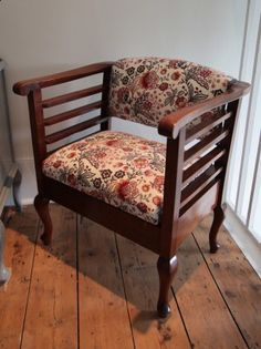 Upholstery - Hannah Stanton Piano stool in Liberty fabric