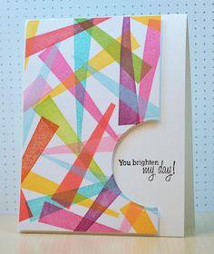 Geometric ribbon pattern.