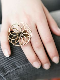 Trendy Jewelry | Twisted Silver | Celebrity Jewelry | Funky Jewelry - Vibe Ring