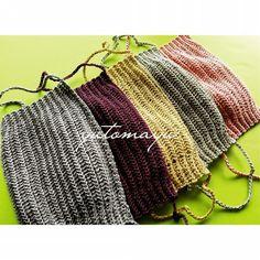 無料編み方 「かぎ針編みのマスク」   編み物屋さん[ゆとまゆ] Crochet Mask, Crochet Faces, Knit Crochet, Knitting Patterns, Sewing Patterns, Crochet Patterns, Craft Items, Crochet Clothes, Handicraft