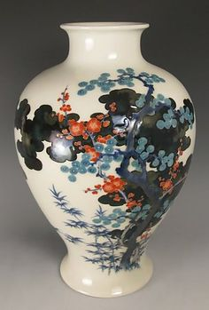 Large Baluster-Form Studio Porcelain Vase | Meiji Period, Japan   The Meiji period  also known as the Meiji era, is a Japanese era which extended from September 1868 through July 1912.[1] This period represents the first half of the Empire of Japan during which Japanese society moved from being an isolated feudal society to its modern form. Fundamental changes affected its social structure, internal politics, economy, military, and foreign relations.