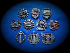 Metal medals for gamers & fans World of Tanks .... & all other - H1-10