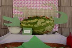 Jill C's Birthday / Alligator - Pink & Green - Photo Gallery at Catch My Party Alligator Birthday Parties, Alligator Party, Summer Birthday, 4th Birthday, Birthday Ideas, Party Themes, Party Ideas, Theme Ideas, Crocodile Party