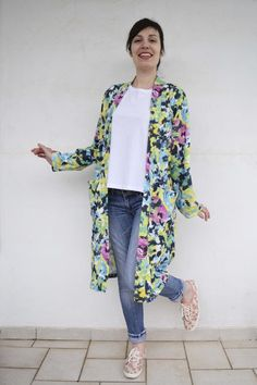 Knitted Fabric, Duster Coat, Kimono Top, Blog, Sewing, Jackets, Posts, Women, Fashion