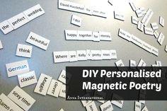 DIY Personalised Magnetic Poetry   Anna International