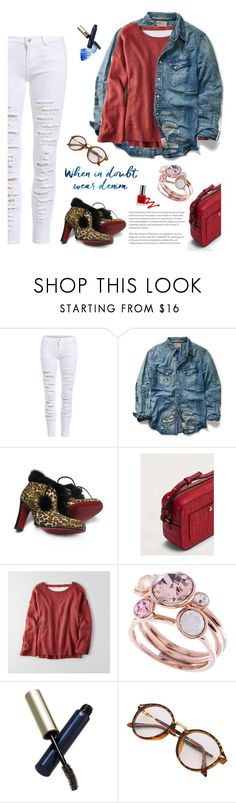 """""""Untitled #22"""" by craftsperson ❤ liked on Polyvore featuring Ralph Lauren, Christian Louboutin, MANGO, American Eagle Outfitters, Ted Baker, Clé de Peau Beauté and cosmicjewelry"""