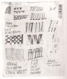 Cy Twombly - Page from North African sketchbook, 1953, conté on paper