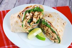 Chipotle Chicken Wrap Recipe - a terrific idea for a Sunday night dinner, and one where you can make extra for lunch the next day.