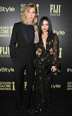 Austin Butler & Vanessa Hudgens from The Big Picture: Today's Hot Pics The couple coordinate at an InStyle and Golden Globes event in West Hollywood.