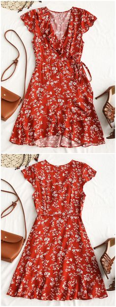 Up to 80% OFF! Tiny Floral Ruffle Mini Wrap Dress. #Zaful #Dress Zaful,zaful outfits,zaful dresses,spring outfits,summer dresses,Valentine's Day,valentines day ideas,valentines outfits,cute,casual,classy,fashion,style,dress,long dress,maxi dress,mini dress,long sleeve dress,flounced dress,vintage dress,casual dress,lace dress,boho dress, flower dresses,maxi dresses,evening dresses,floral dresses,long dress,party dress,bohemian dresses,floral dress,bodycon dress @zaful Extra 10% OFF…
