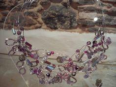 silver plated wire and semi precious stones