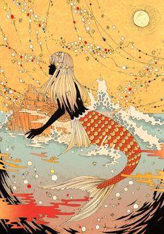 Japanese Painter Ayumi #mermaid
