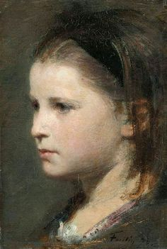 Henri Fantin-Latour (French, 1836-1904)  Head of a Young Girl, 1870. Oil on canvas.