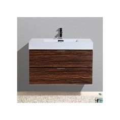 """You'll love the Bliss 36"""" Single Wall Mount Modern Bathroom Vanity Set at Wayfair - Great Deals on all Home Improvement  products with Free Shipping on most stuff, even the big stuff."""