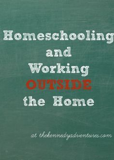 How a mom of six manages homeschooling while working outside the home -- the tips may surprise you, especially #7  #homeschooling #wohm