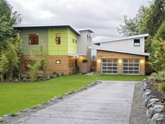 Houzz Tour: Modern, Ecofriendly Prefab in Seattle  Green materials and a connection with nature help this prefab house, and the family who lives there, tread lightly on the earth