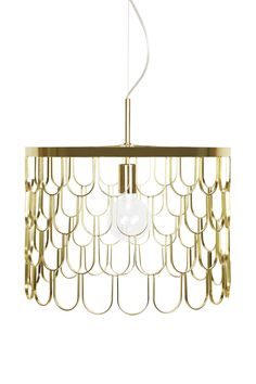 Pendant Gatsby 45 Material: Brass metallCable: Transperent with wire. Gatsby, Exterior Design, Interior And Exterior, Red Bricks, Apartment Interior, Messing, Feng Shui, Designer, Art Deco