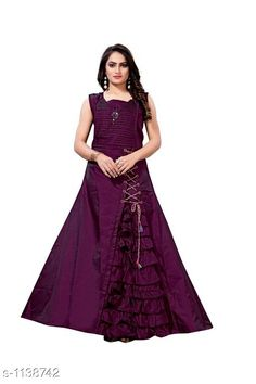 Checkout this latest Kurtis Product Name: *Women's Solid Taffeta Silk Long Anarkali Kurti* Fabric: Taffeta Silk Sleeve Length: Sleeveless Pattern: Solid Combo of: Single Sizes: L, XL, XXL Country of Origin: India Easy Returns Available In Case Of Any Issue   Catalog Rating: ★4.2 (1043)  Catalog Name: Women's Solid Taffeta Silk Kurtis CatalogID_141225 C74-SC1001 Code: 594-1138742-1761