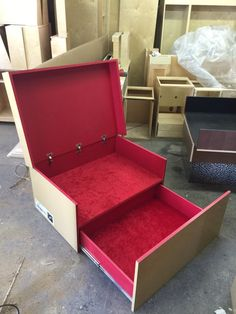 Custom Louboutin Inspired Giant Shoe Box With Red Velvet Interior