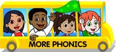 More Phonics - Starfall online learning games Kindergarten Math Games, Literacy Games, Spelling Activities, Preschool Curriculum, Early Literacy, Phonics Games, Alphabet Phonics, Preschool Games, Fun Games