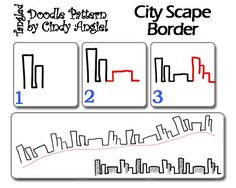 CityScape Doodle-Pattern Sheet by Paint Chip, via Flickr