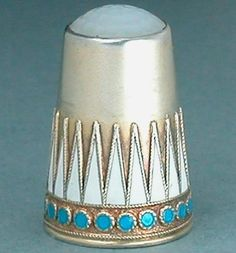 Antique Norwegian Enameled Sterling Silver Thimble by Marius Hammer Early 20 C | eBay