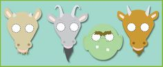 A set of 4 masks based on characters from The Billy Goats Gruff, ideal for using during role-play to help your pupils re-enact the story in your classroom. Book Activities, Classroom Activities, Goat Mask, Kindergarten Reading, Kindergarten Classroom, Fairy Tales Unit, Billy Goats Gruff, Traditional Tales, Paper Puppets