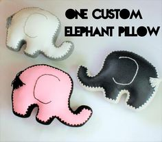 Elephant Pillow, Faux Leather & Crochet Edging, One Made to Order, Custom Colour Options Elephant Pillow, Unique Home Decor, Joyful, Lettering, Pillows, Crochet, Pink, Leather, Handmade