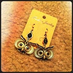 I just discovered this while shopping on Poshmark: NWT Gold Tone Owl Dangle Earrings. Check it out!  Size: OS