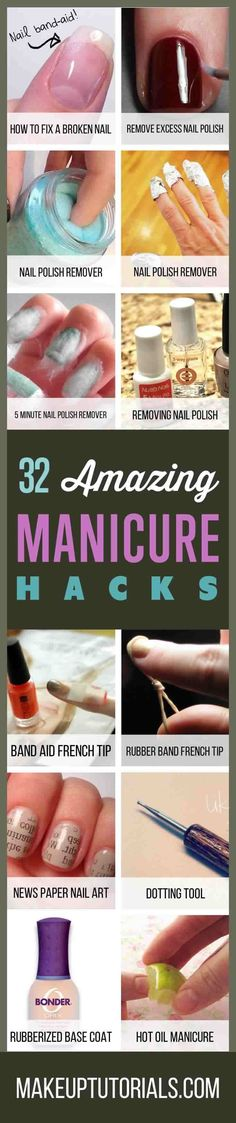 Anyone can have a perfect DIY manicure if you know a few manicure hacks. Keep reading to learn the secret of beautiful nails with these DIY manicure hacks! Gel Manicure At Home, Shellac Manicure, Manicure And Pedicure, Pedicure Ideas, Pedicure Tools, Gel Chrome Nails, Fix Broken Nail, Nail Art Dotting Tool, Sharpie Nail Art