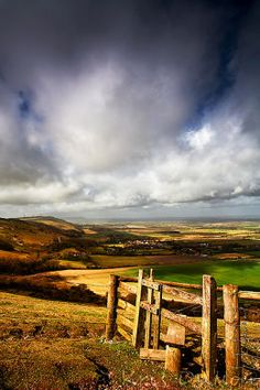 An old stile on the South Downs at Devils Dyke in Sussex, UK. England Countryside, British Countryside, Scenic Photography, Landscape Photography, Landscape Art, Great Britan, Images Of England, Brighton And Hove, England And Scotland