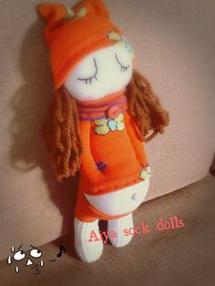 Sock doll (this made me laugh! What a belly!)cj