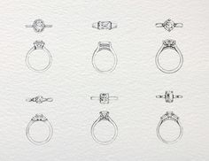  which ring would you chose to complete the perfect proposal? Jewelry Store Design, Jewelry Design Drawing, Jewelry Stores, Cute Jewelry, Jewelry Art, Jewelry Rings, Jewelery, Ring Sketch, Necklace Drawing