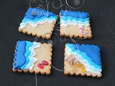 School is out, lets go to the beach! What a cute cookie idea!