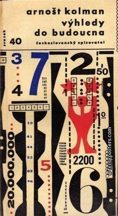 """Arnost Kolman """"Future prospects"""" book cover designed by Zdeněk Seydl"""