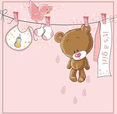 a imagem decoupage clipart baby 5 Tarjetas Baby Shower Niña, Invitaciones Baby Shower Niña, Tatty Teddy, Teddy Bear, Clipart Baby, Baby Shower Niño, Shower Bebe, Dibujos Baby Shower, Colorful Baby Showers
