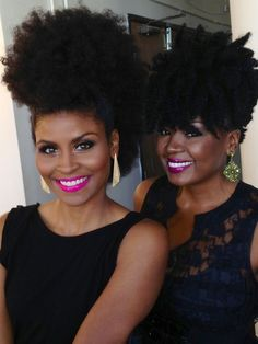 Glam Chic: Crystal Cotton and Melissa Hibbert, the founder of SHEEQ Cosmetics, a luxury Makeup and Skincare brand for Women of Color.